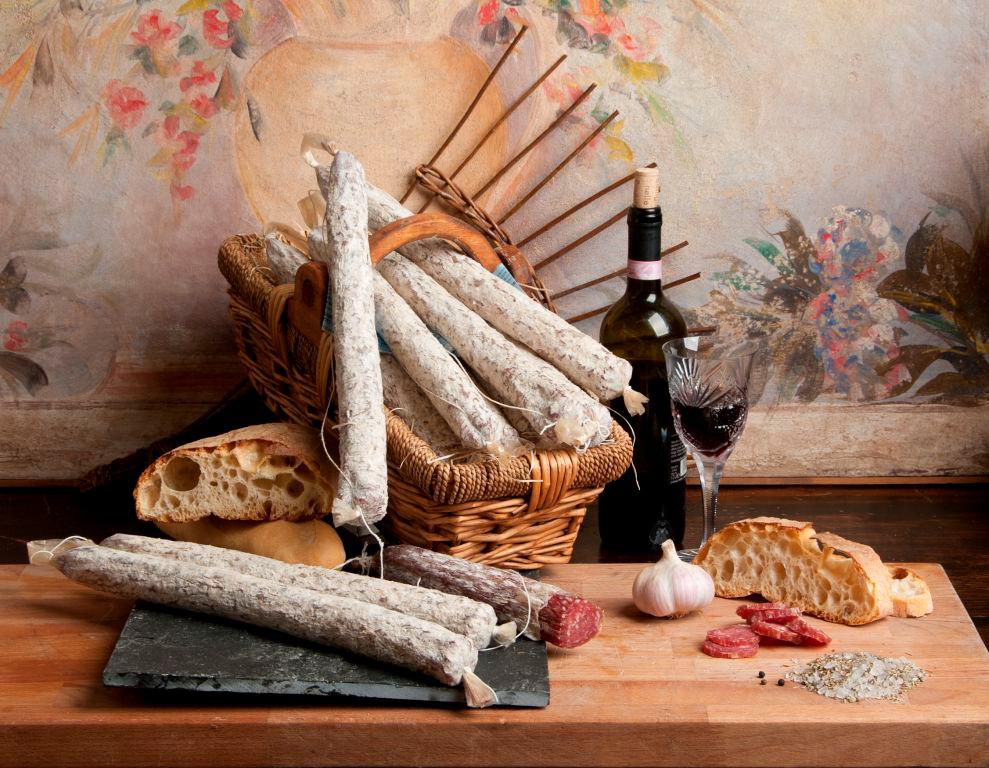 De heerlijke Italiaanse salami van familiebedrijf Gamba Edoardo pure producten