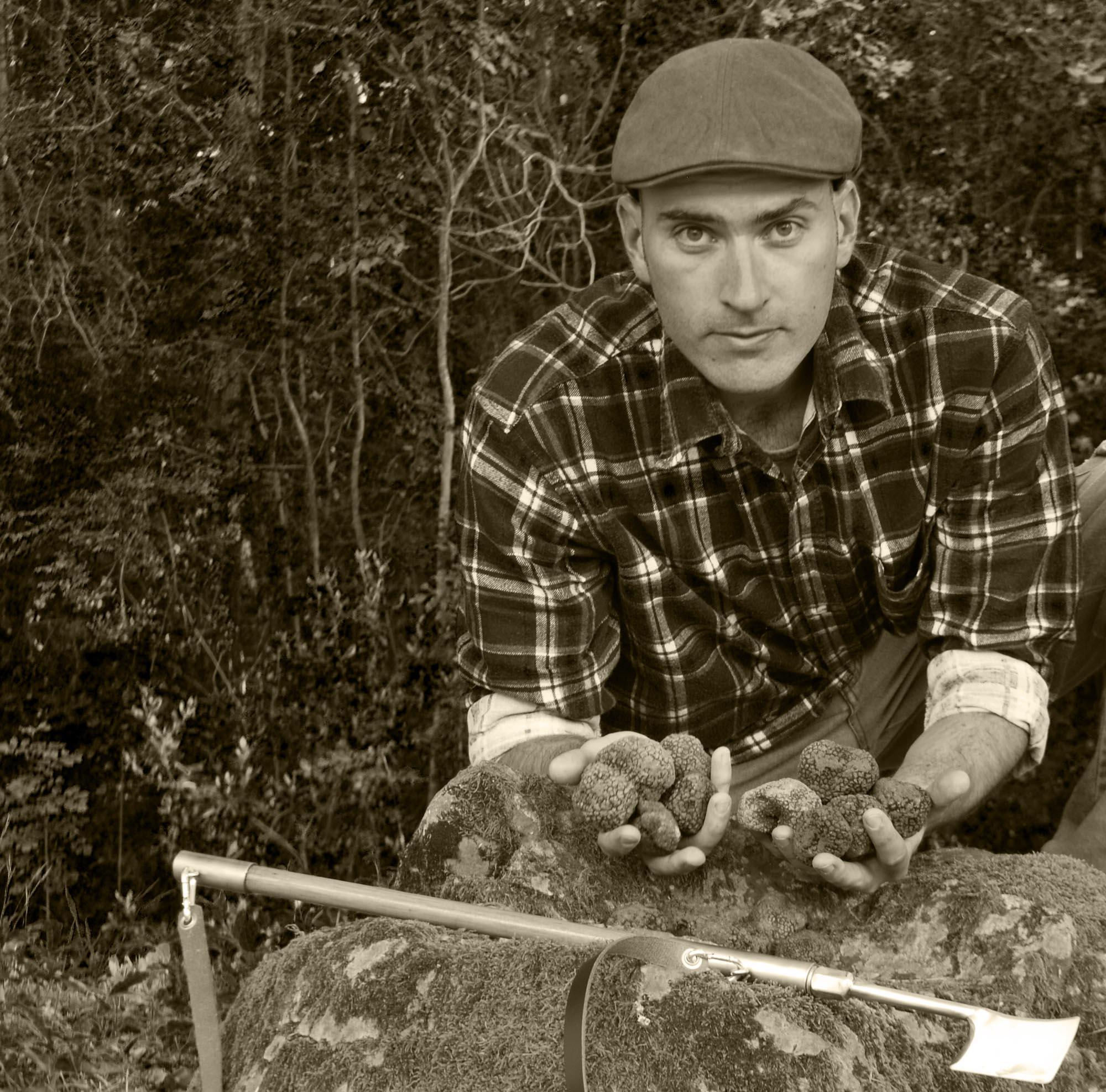 Flavio Rabitti met zijn Truffels Toscane Italië truffelproducten