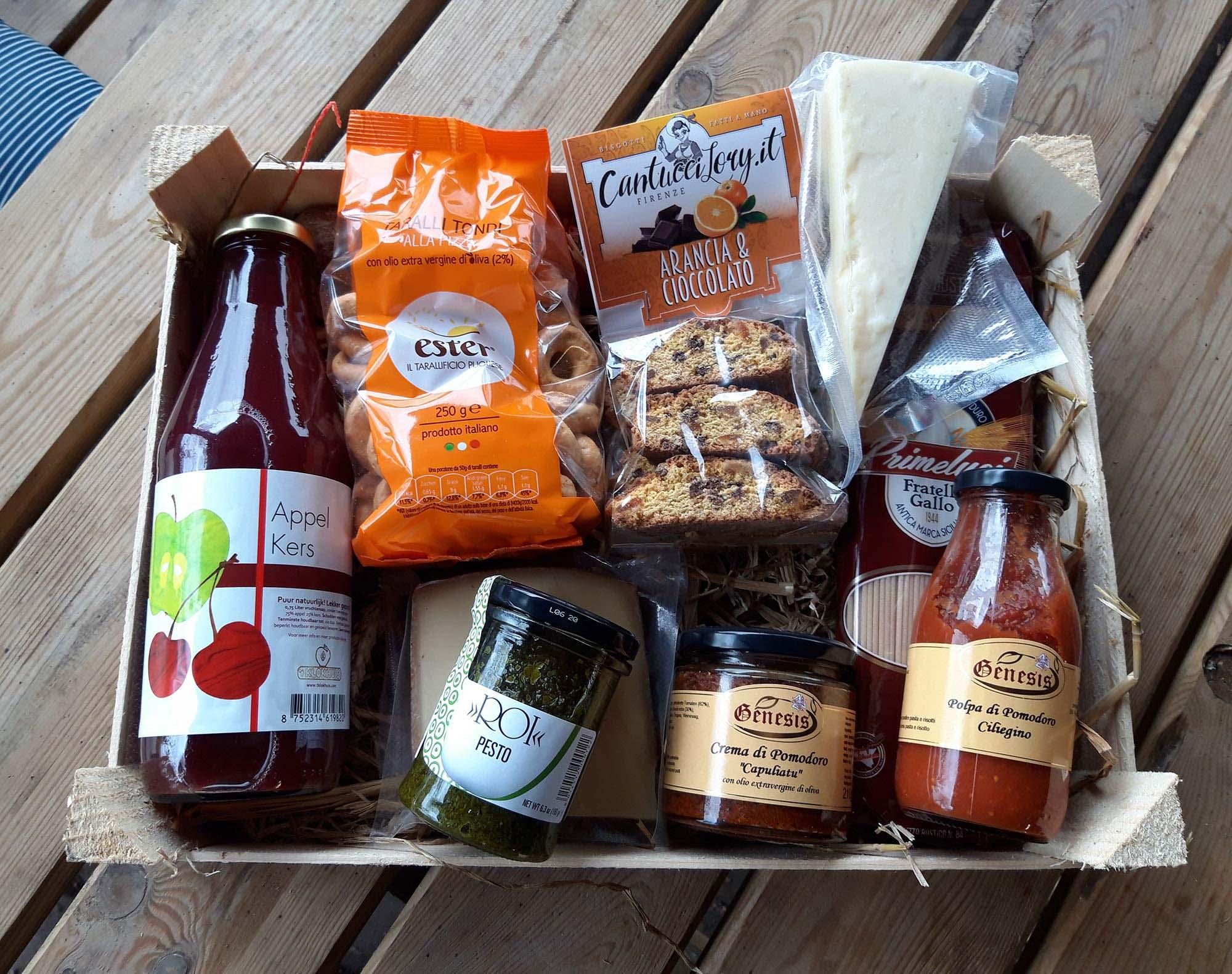 Italiaanse cadeaupakketten landgoedwinkel Landrucci