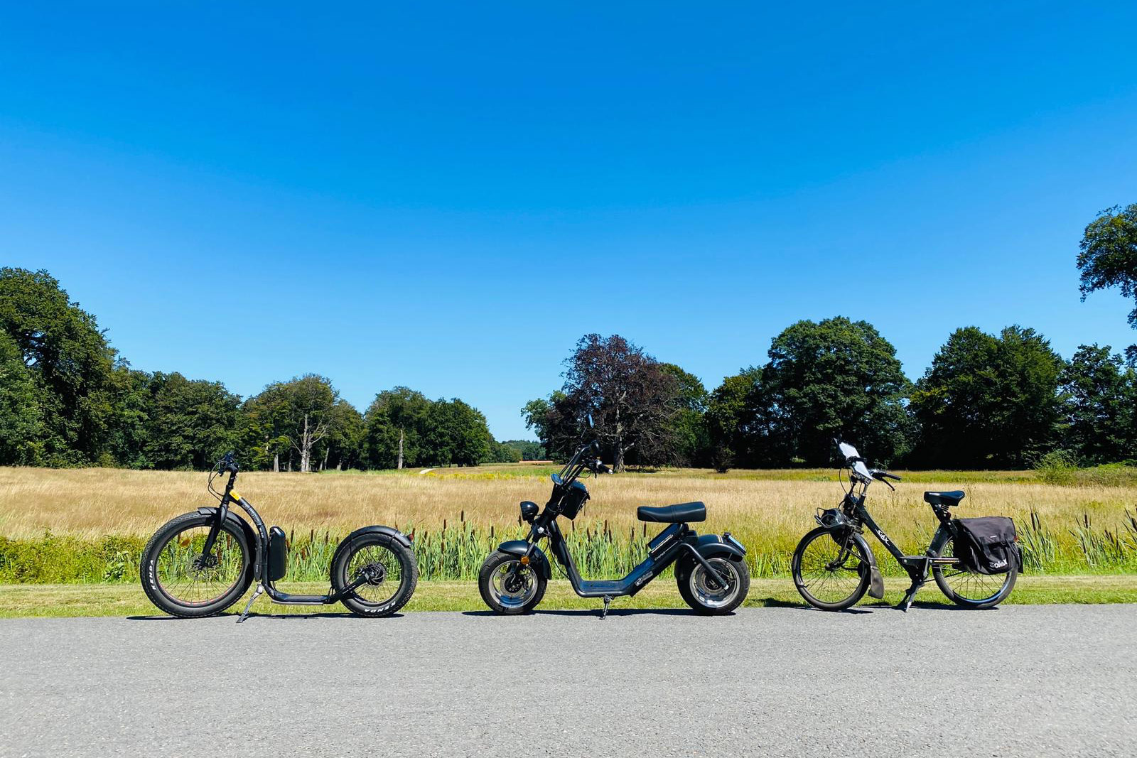 Verhuur Solex-, e-shopper en Fat Max e-kickbike