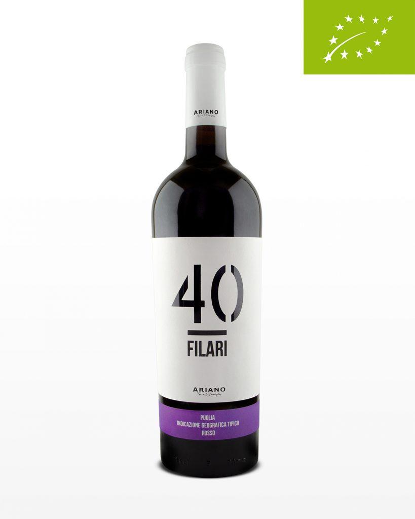 Biologische rode wijn 40 Filari